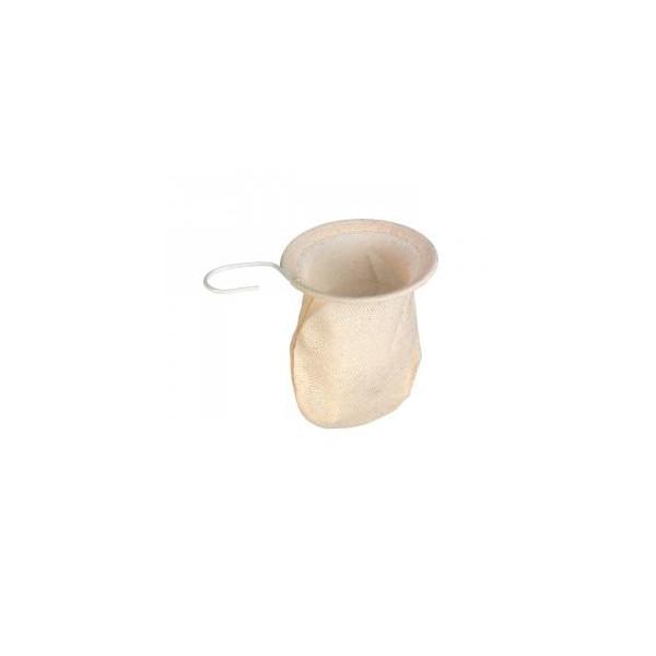 Filtre à thé et tisane en coton 100% non blanchi  9 cm - Biobox