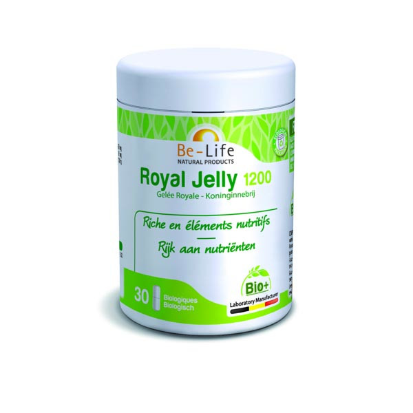 Royal Jelly 1200 Bio (Gelée Royale) 30 gélules - Be-Life
