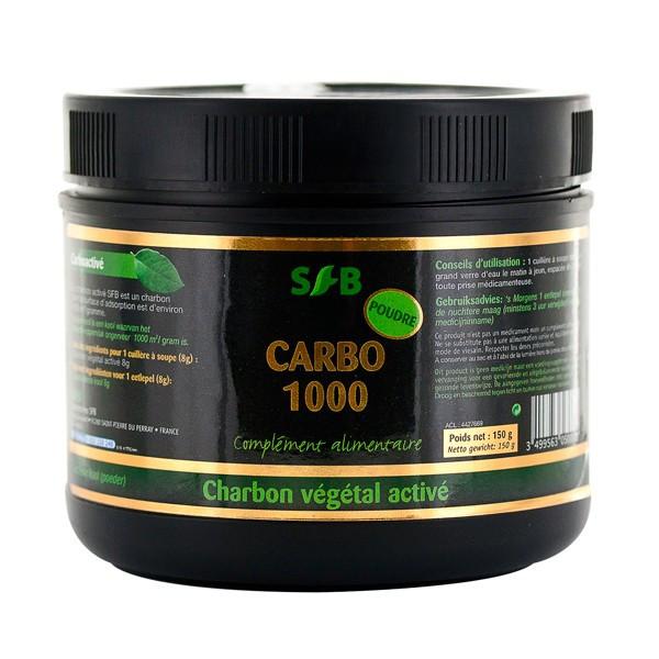 Charbon végétal activé 150 gr Carbo 1000 - SFB