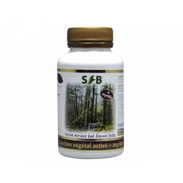 Charbon végétal super acté myrtille 120 gélules - SFB