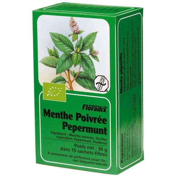 Tisane de Menthe poivrée Bio 15 infusettes - Salus