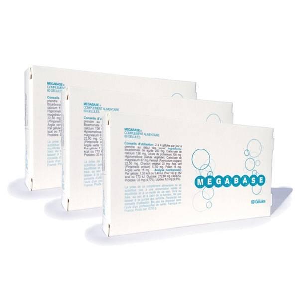 Pack de 3 Megabase 60 gélules - Laboratoire Biophytarom