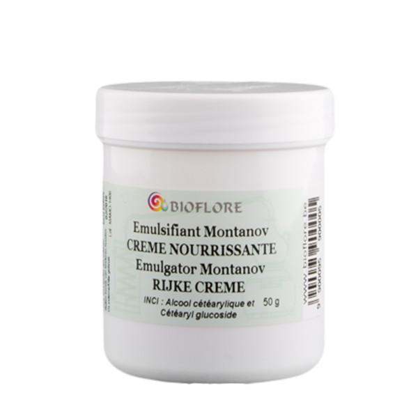"""Cire émulsifiante Montanov """"Crème nourrissante"""" 50 g - Bioflore"""