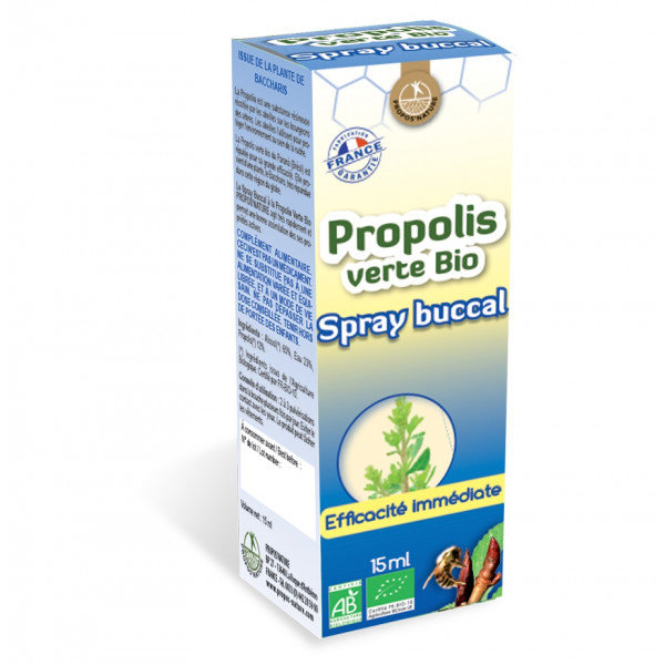 Spray buccal à la Propolis verte Bio 15 ml - Propos'Nature