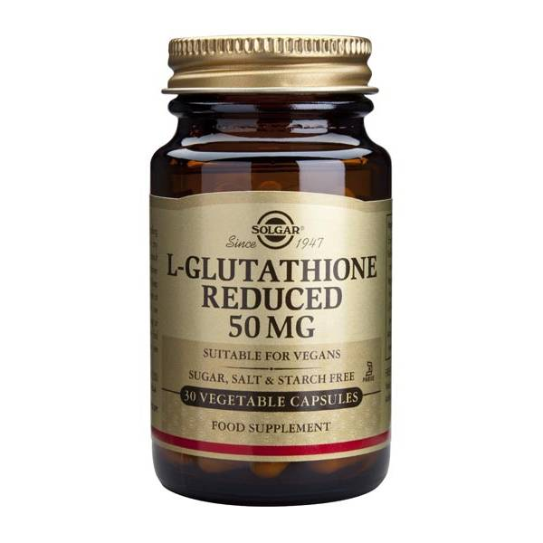 L-Glutathione Reduced 50 mg 90 capsules - Solgar