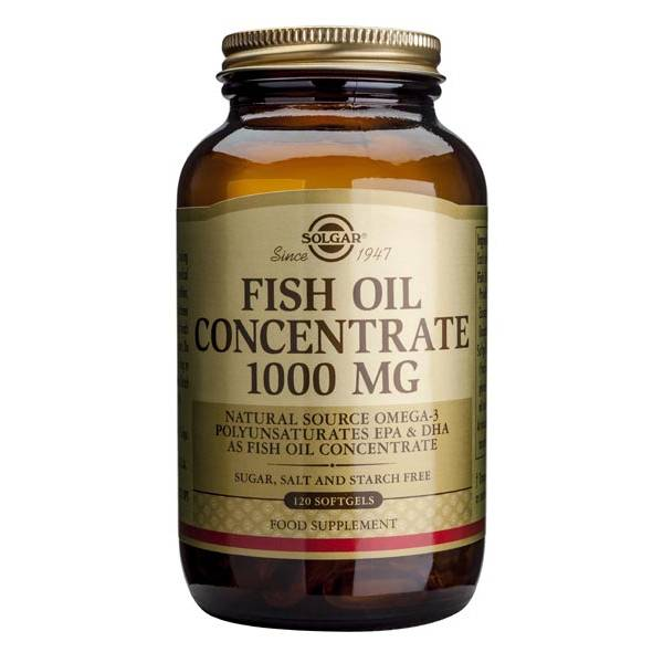 Fish Oil Concentrate 1000mg 120 softgels - Solgar