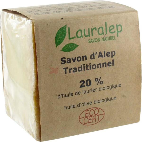 Savon d'Alep Original 20% Bio Extra doux 200 gr - Lauralep