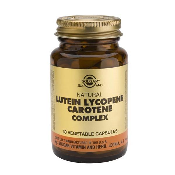 Lutéine Lycopène  Carotènes - 30 caps. végétales - Solgar