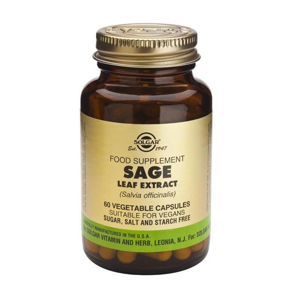 Sauge Extrait standardisé (Sage Leaf Extract) 60 gélules végétales - Solgar