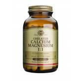 Chelated Calcium Magnésuim 1:1 120 comprimés - Solgar