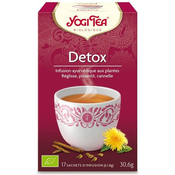 """Yogi Tea """" Detox """" Bio 17 sachets - Thé Ayurvedic"""
