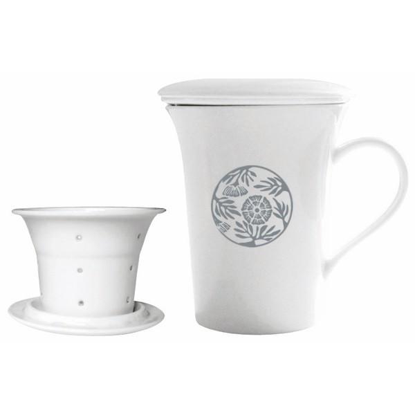 Tisanière Hildegarde de Bingen 0.25 L avec filtre en porcelaine d'art - Florisens