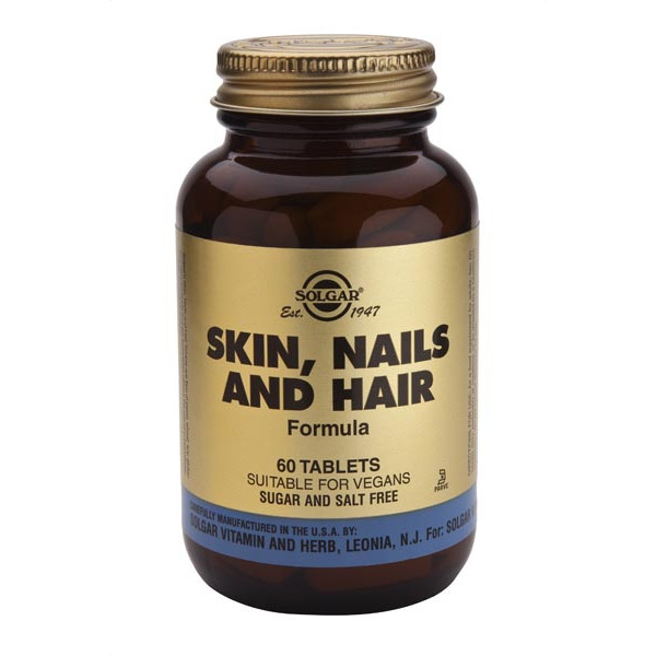 Peau, ongles, cheveux (skin, nails and hair formula) 60 comprimés - Solgar