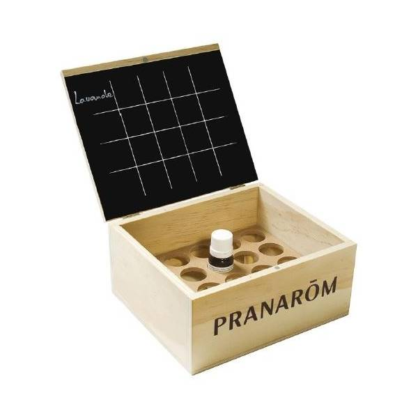 Aromathèque - Coffret en bois pour 20 huiles essentielles 5 ml ou 10 ml - Pranarôm