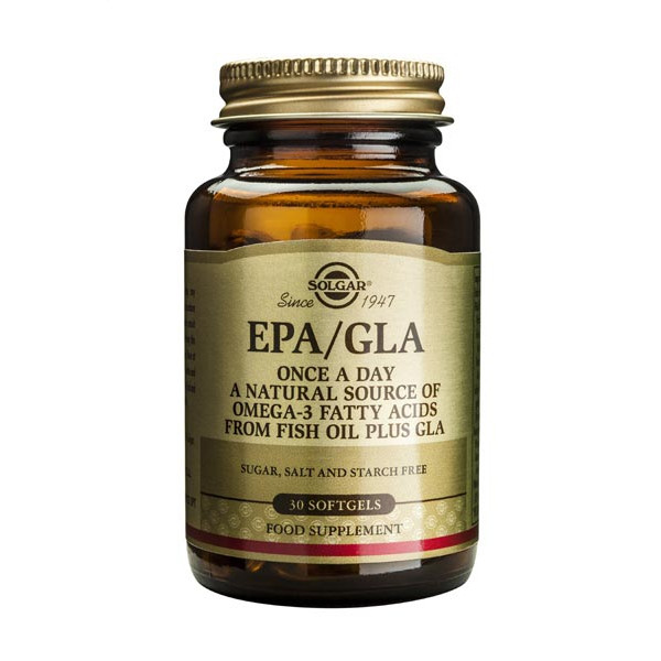 One-a-Day EPA/GLA (source naturelle d'oméga 3 et 6) 30 softgels - Solgar