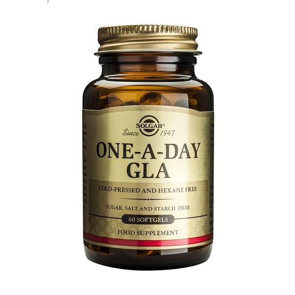 One-a-Day GLA (huile de Bourrache première pression à froid, sans hexane) 60 softgels - Solgar