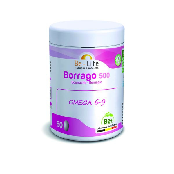 Bourrache 500 mg (Borrago 500)  60 gélules  Bio - Be-Life