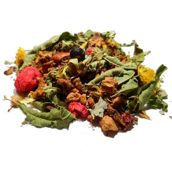 """Tisane Plante, fleurs et fruits Bio """"Corbeille de fruits"""" 100 gr - Herboristerie du Valmont"""