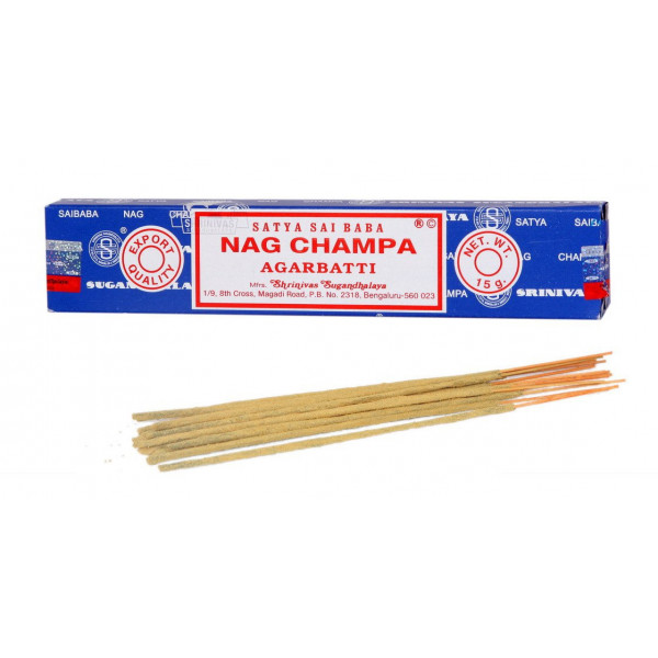 Encens Nag champa  en baguettes 15 gr - la boîte - Satya