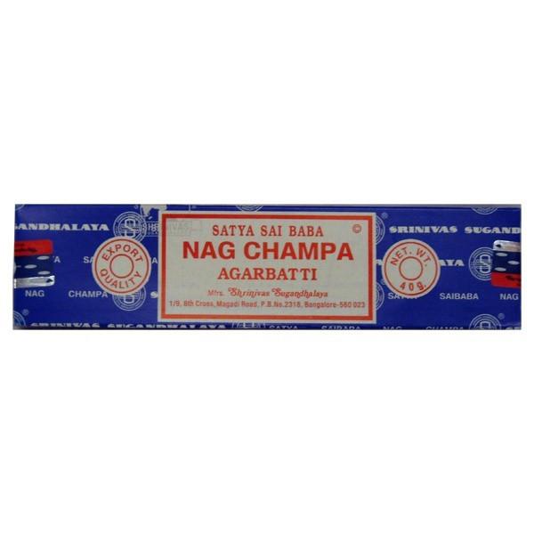 Encens Nag champa  en baguettes 40 gr - la boîte - Satya