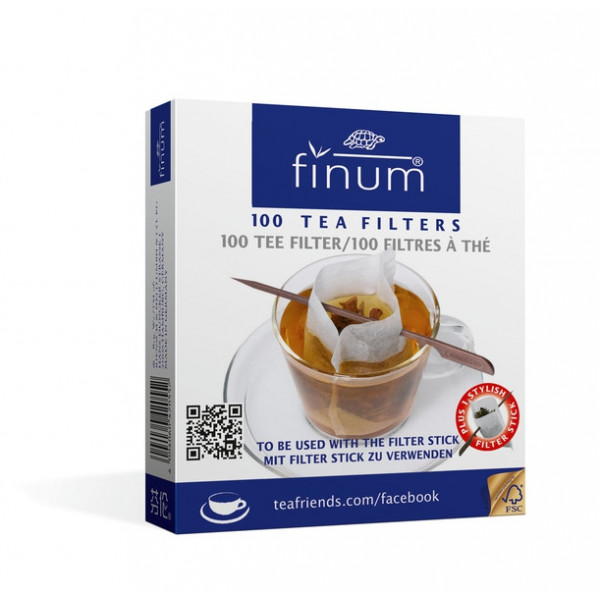 Filtres à thé en papier biodégradable modèle tasse 100 pièces - Finum