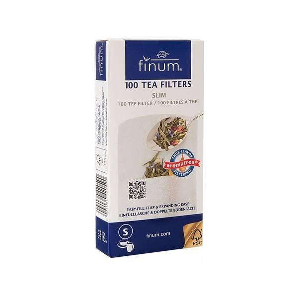 Filtres à thé en papier biodégradables S arge 100 pièces - Finum