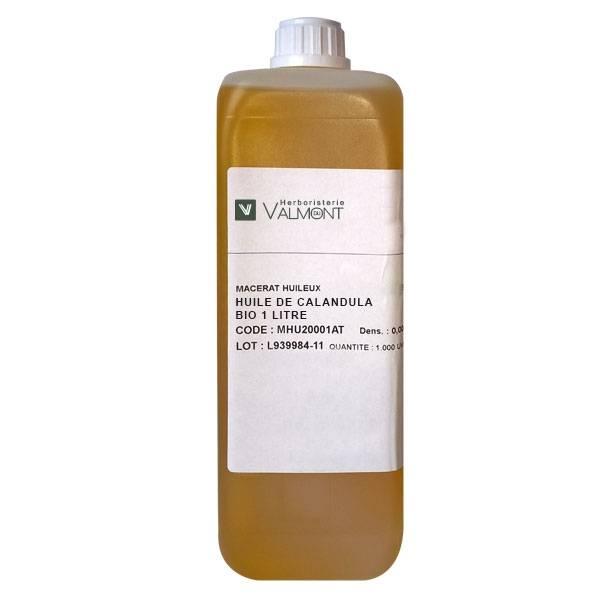 Huile de Calendula (Souci) Bio 1 Litre - Herboristerie du Valmont