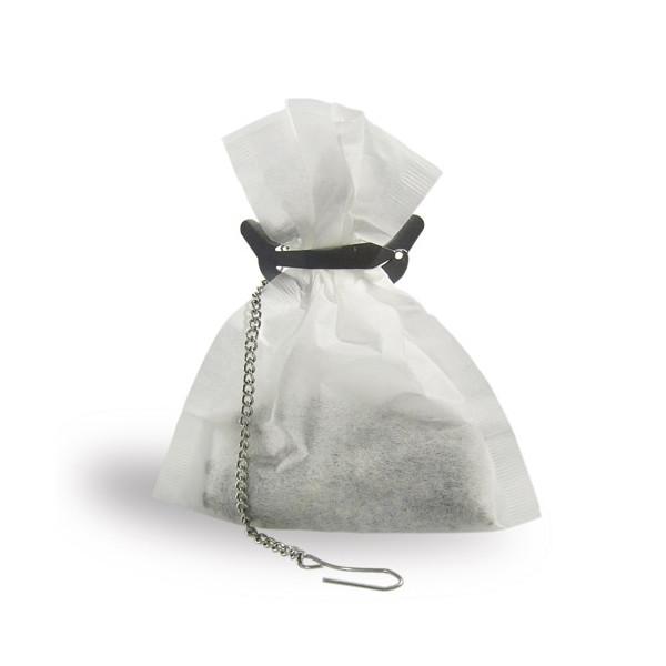 Porte filtre à thé et à tisane en métal avec chainette