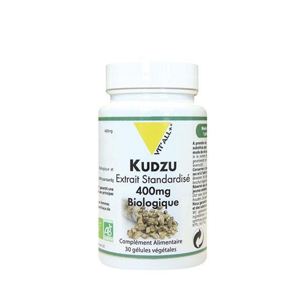 Kudzu Extrait standardisé 400mg Bio 30 gélules - Vit'all+