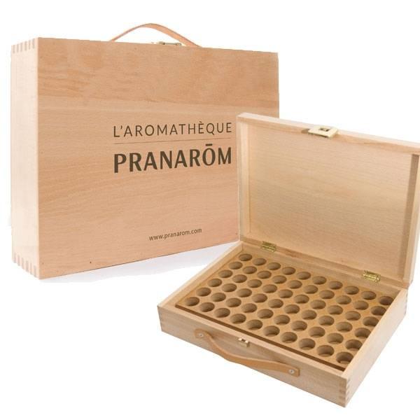 Aromathèque en bois capacité 60 flacons de 5 ml ou de 10 ml - Pranarôm