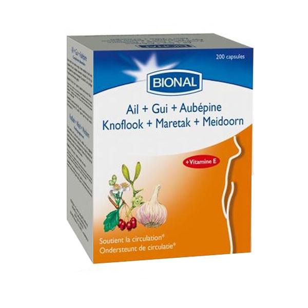 Ail - Gui - Aubépine 200 capsules - Bional