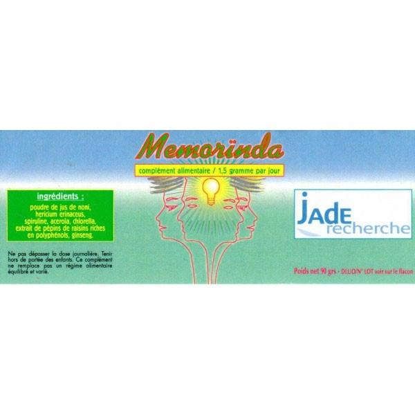 Memorinda 120 gélules - Jade Recherche