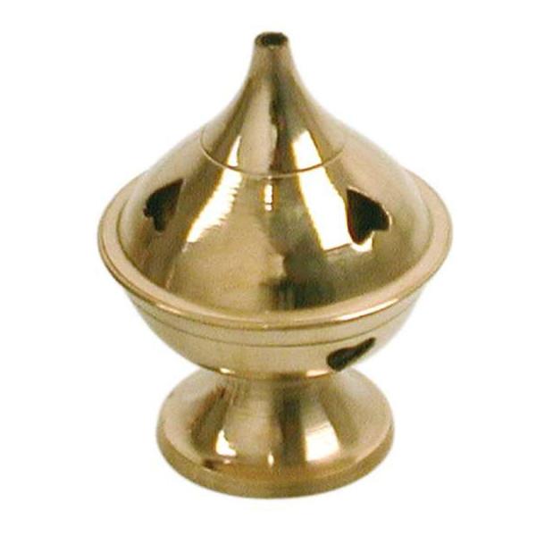 Porte encens cheminée en laiton petit modèle