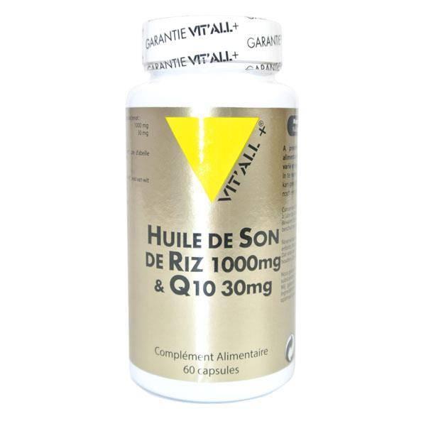 Huile de son de riz 1000mg et Q10 30mg 60 capsules - Vit'all+