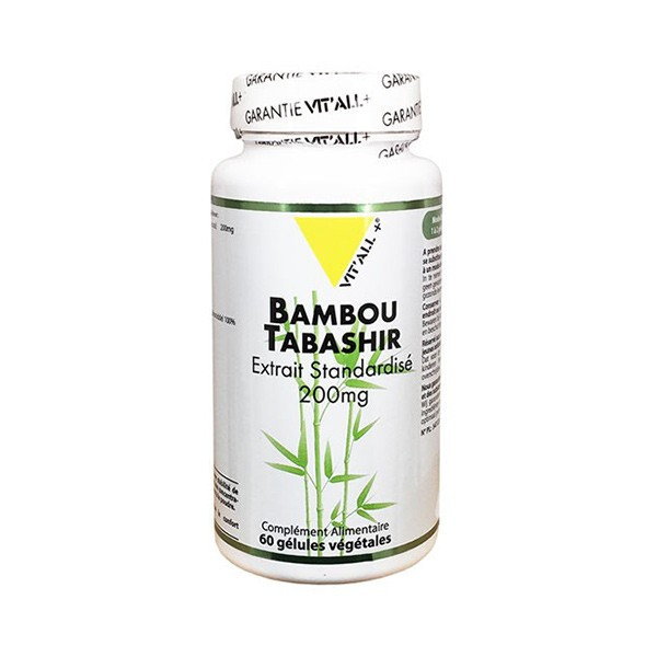 Bambou tabashir 200mg 60 gélules végétales - Vit'all+