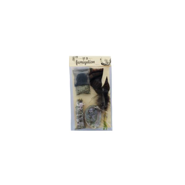 Mini Kit de Fumigation Chamanique - Mini Abalone et Herbes à brûler