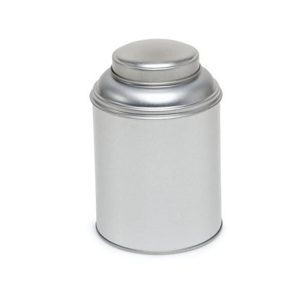 Boite à thé classique argentée - 93/133 mm - Herboristerie du Valmont