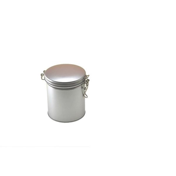 Boite à thé hermétique argentée - 102/122 mm - Herboristerie du Valmont