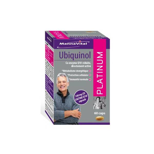Ubiquinol Platinum 60 gélules - Mannavital