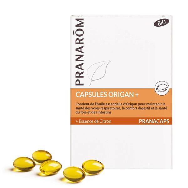 Capsules aromatiques d'Origan+ 30 capsules - Pranarôm