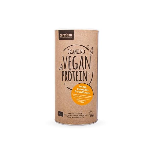 Protéines végétales Bio - Organic Mix 3 - Nature 400 gr - Purasana