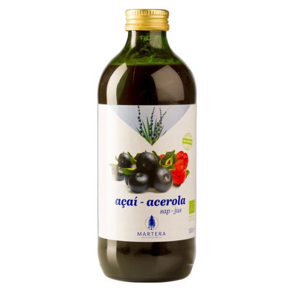 Açaï-Acerola frais 100% pur jus bio 500 ml - Martera