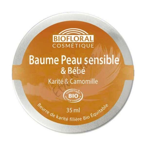 Baume peau sensible Bébé Beurre de Karité et Camomille Bio 35 ml - Biofloral