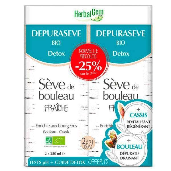Dépurasève DUOPACK (séve de bouleau) - Nouvelle Récolte - 2 x 250 ml - Herbalgem