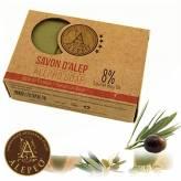 Savon d'Alep 4% dhuile de laurier 190 g Bio - Alepeo