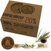 Savon d'Alep à 12% d'huile de laurier 190 gr - Alepeo