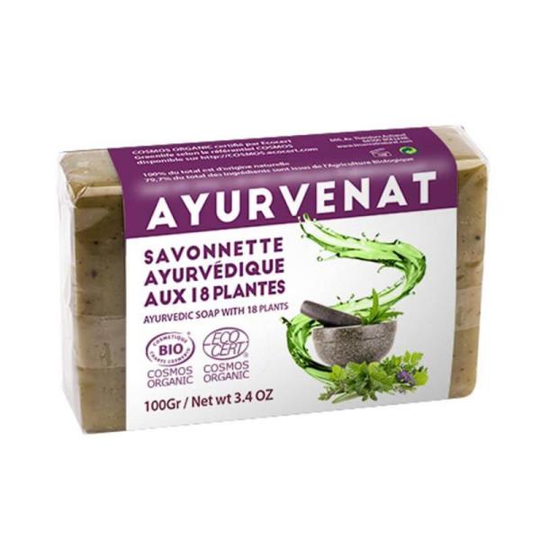 Savon Ayurvedique aux 18 herbes Bio 100 gr - Oléonat