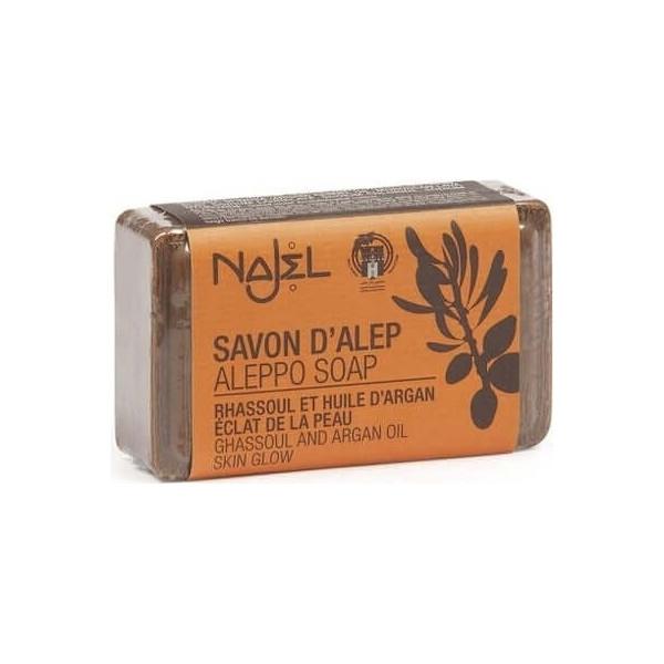 Savon d'Alep Rhassoul et huile d'Argan 100 g - Najel